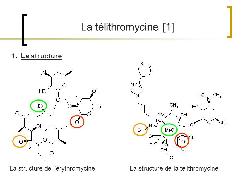 La télithromycine [1] La structure La structure de l'érythromycine